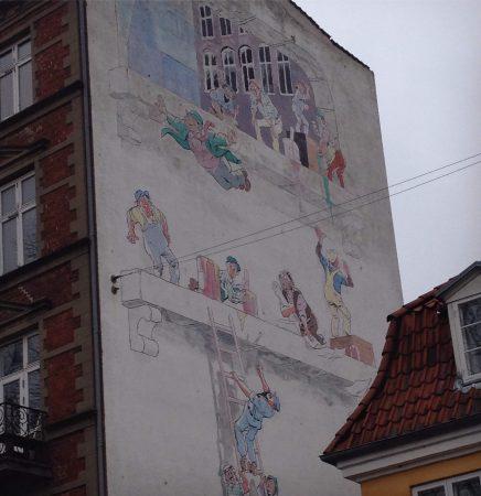 Koppenhága, falfestmény, falfestmények